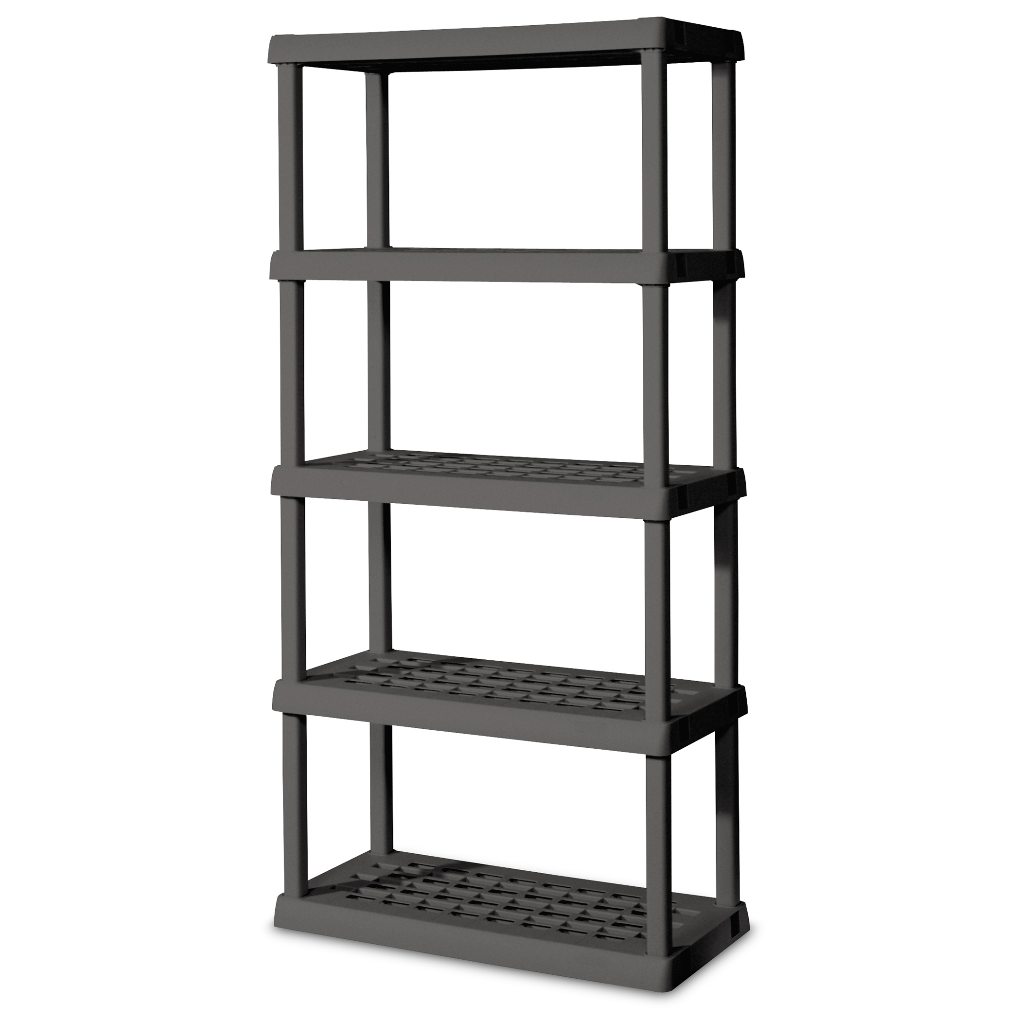 Sterilite 01553V01 Flat Gray 5 Shelf Shelving Unit