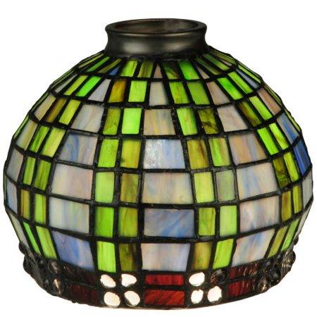 Tiffany Basket (Meyda Tiffany - 27405 - Shade - Jeweled Basket - Green/Blue Xag Clear )