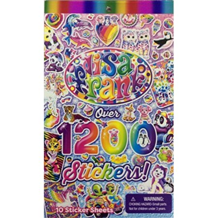 lisa frank 1200 stickers tablet book 10 pages of collectible stickers crafts scrapbooking Facts Scrapbooking Stickers