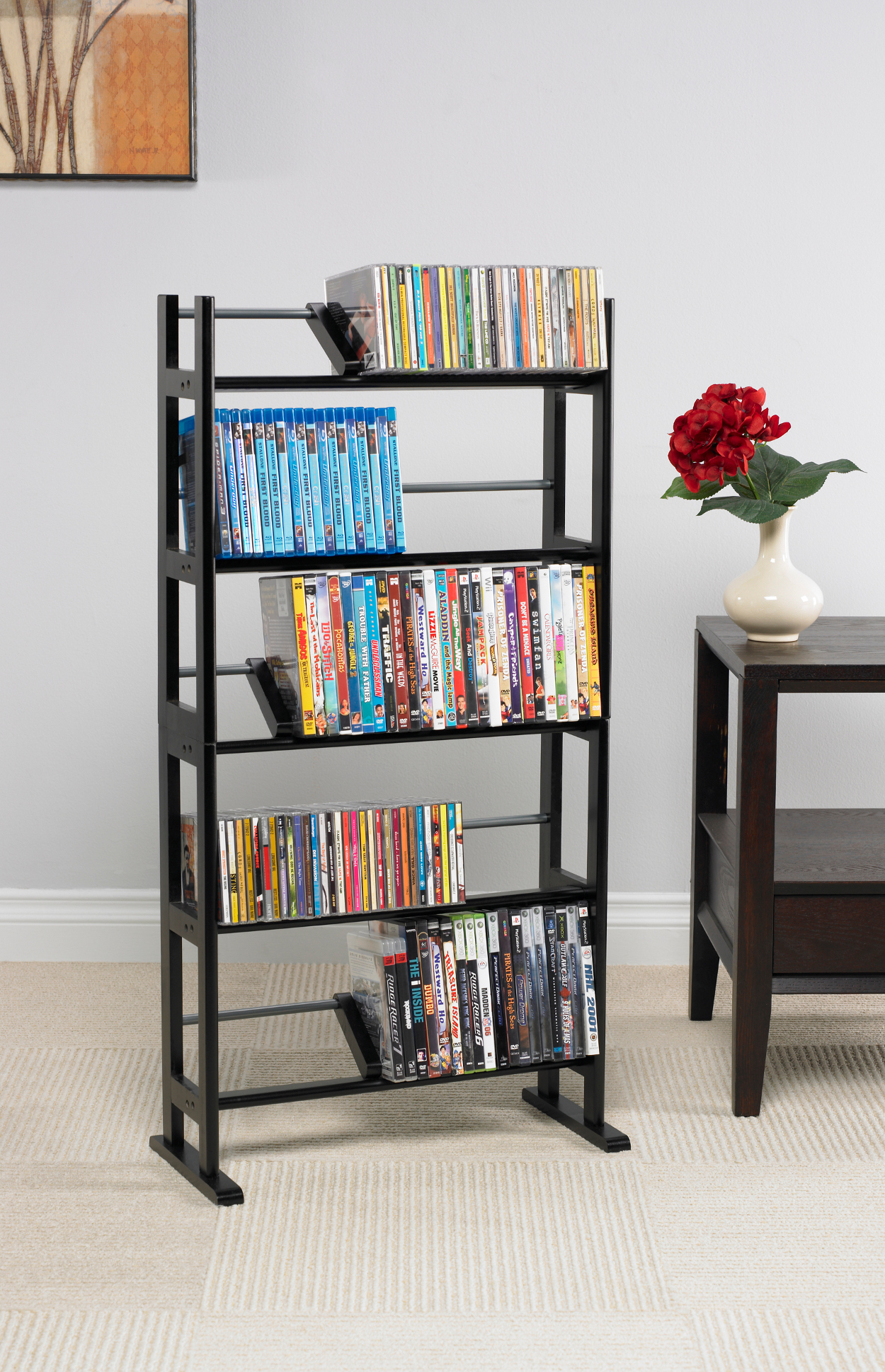 Atlantic Shelf Furniture Element Media Rack, Espresso by Atlantic Furniture
