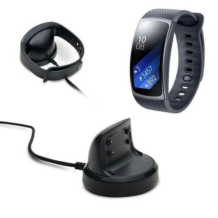 AGPtek Charger Dock Charger Charging Cradle Dock Desktop Holder Adapter for Samsung Gear Fit 2 SM-R360 (Dual Desktop Charging Cradle)