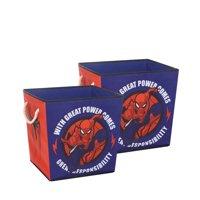 Marvel Spiderman Rope Handle Storage Cubes (2 Pack)