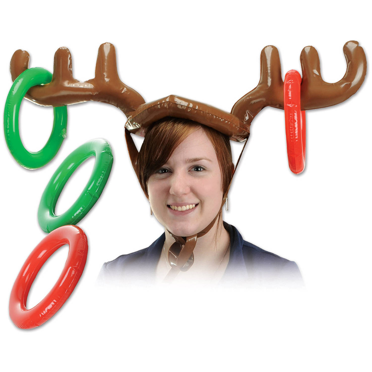 Inflatable Reindeer Ring Toss Game