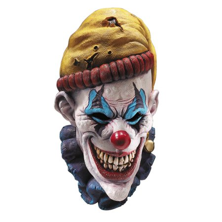 Latex Mask - Insano The Clown - Adult Costume - Really Scary Clown Masks