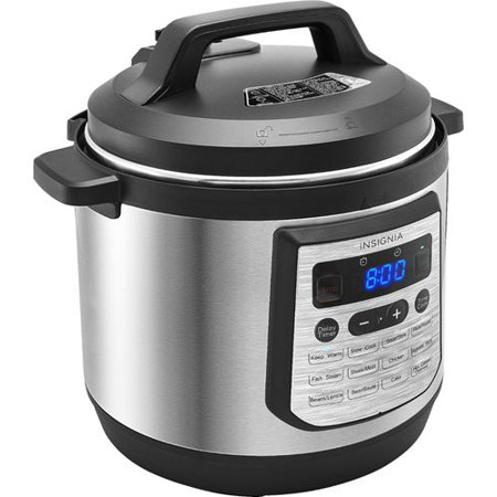 Insignia? - 8-Quart Multi-Function Pressure Cooker - Stainless Steel