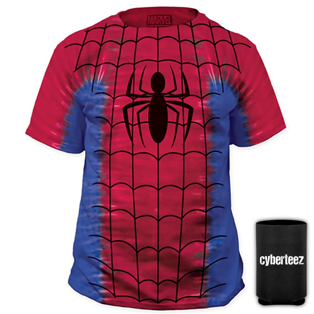 Spider Man Suit Tie Dye Costume T-Shirt + Coolie (S)