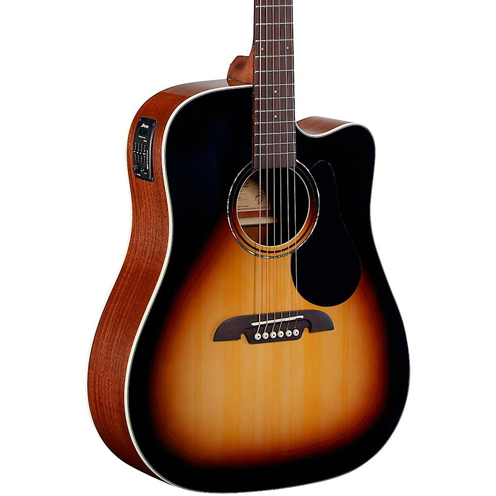 Alvarez Regent Series Dreadnought Cutaway Acoustic-Electric Guitar Sunburst by Alvarez