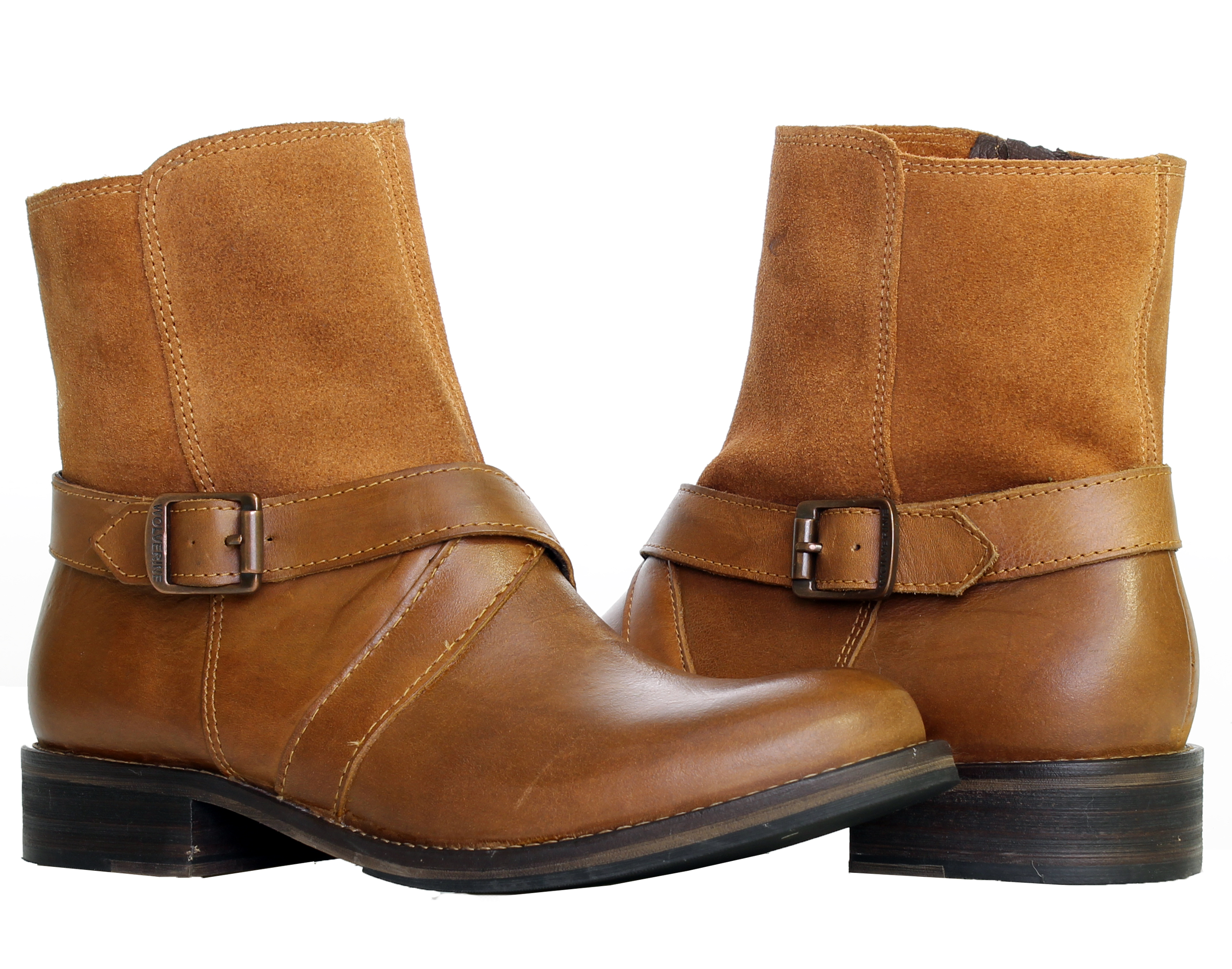 1883 by Wolverine Pearl Tan Leather Women's Ankle Boots W40088 by Wolverine