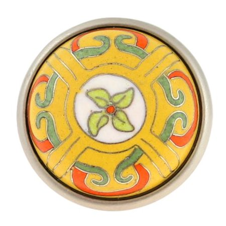 (10 Pack) Betsy Fields Design Knob - Cloisonne - 42mm L-PBF681Y-BTR-C (Betsy Fields Design)