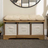 Deals on Manor Park 42-Inch Modern Farmhouse Entryway Storage Bench