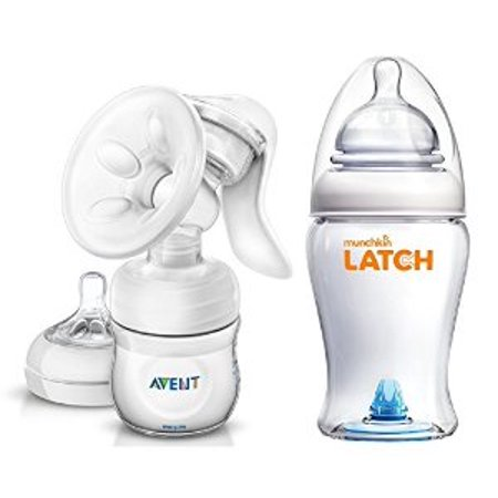 Philips Avent Manual Comfort Breast Pump with Munchkin Latch 8 Ounce ...