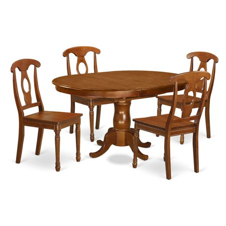 East West Furniture Portland 5 Piece Keyhole Dining Table Set