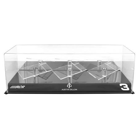 Austin Dillon Fanatics Authentic #3 Richard Childress Racing 3 Car 1/24 Scale Die Cast Display Case With Platforms - No