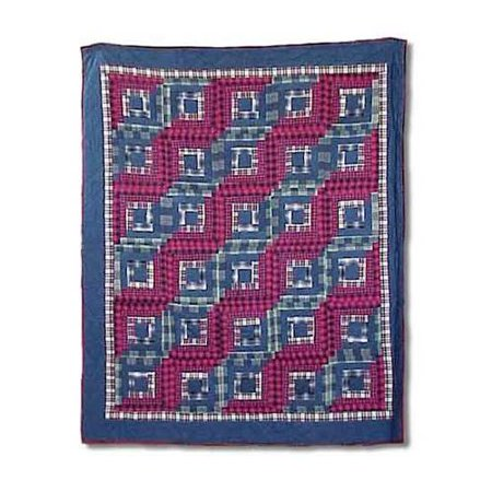 Red Log Cabin Throw