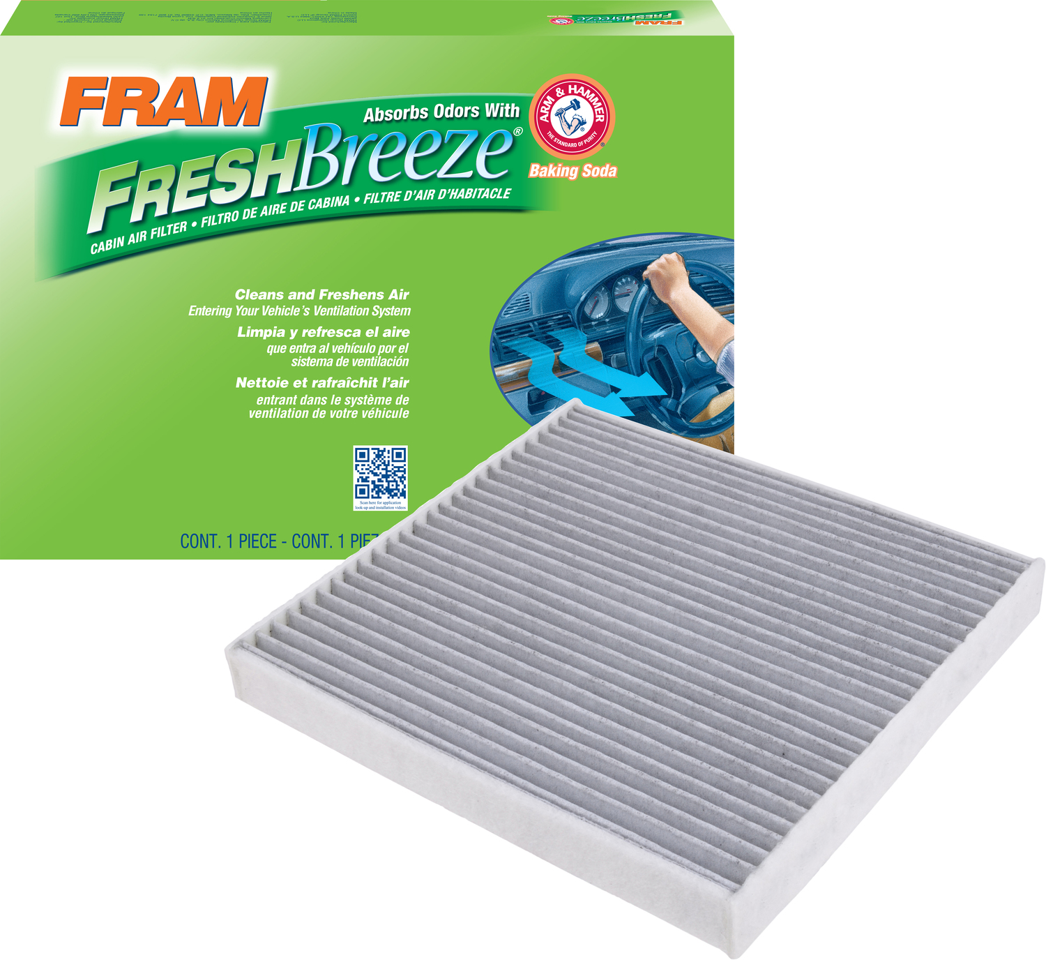 Purolator PBC36154 PurolatorBOSS Premium Cabin Air Filter with Febreze Freshness