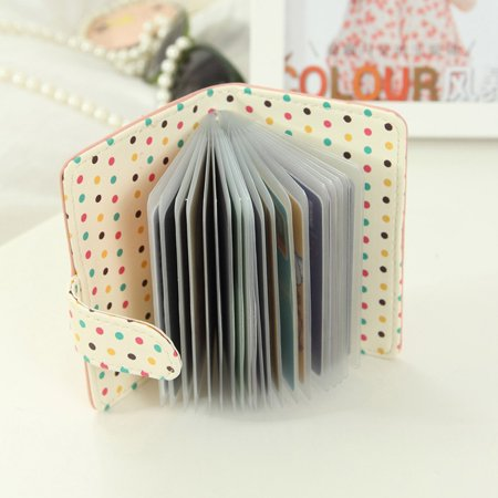Women Candy Color Top Leather Bank Credit Cards Large Capacity Card Wallet (Citi Bank Best Credit Card)