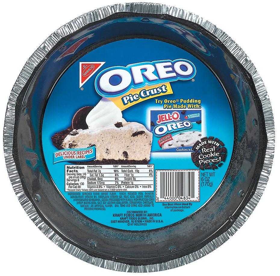 Oreo Pie Crust, 6 Oz