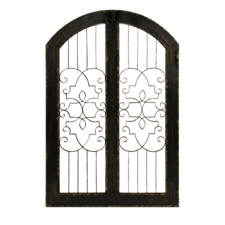 Beaumont Lane Iron and Wood Gate in Brown