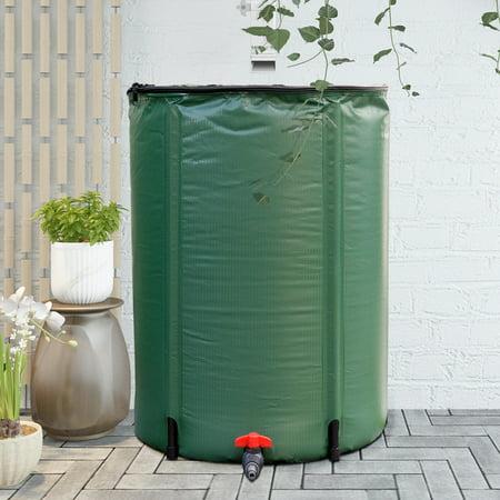 Gymax 60 Gallon Portable Rain Barrel Water Collector Collapsible Tank Spigot Filter ()