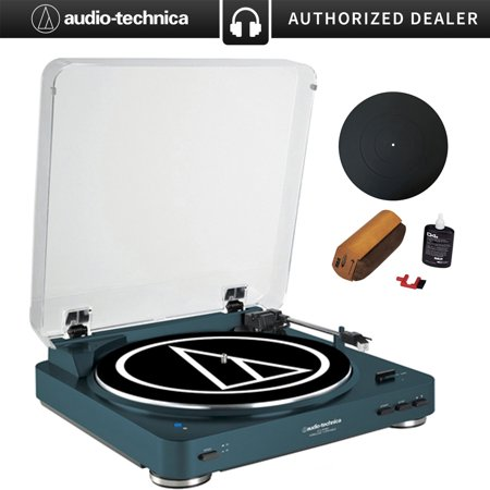 M/t Fluid - Audio-Technica Fully Automatic Bluetooth Wireless Belt-Drive Turntable LE Navy (AT-LP60NV-BT) + Universal 12