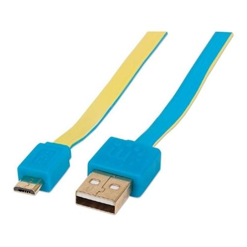 Manhattan Products 60 MB/s - 3.28 ft - 1 x Type A/B Male Micro USB - Gold-plated Contacts, Nickel Plated