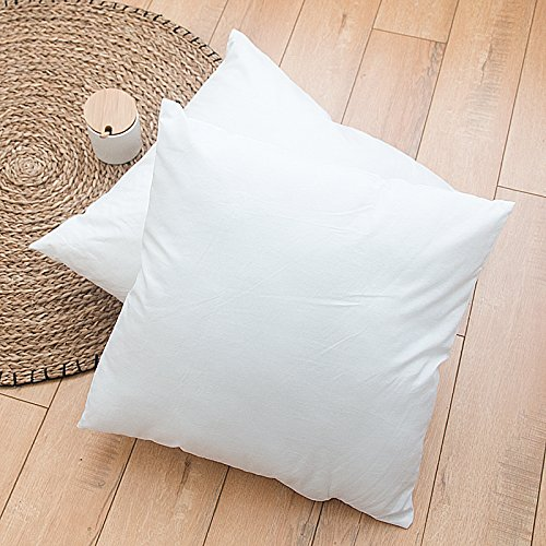 Standard//White IZO Home Goods Premium Outdoor Anti-Mold Water Resistant Neckroll Pillow Insert Sham Round Bolster Pillow Form Polyester 16 L X 6 W