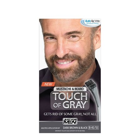 Just For Men Touch Of Gray Mustache & Beard Color, Dark Brown ...