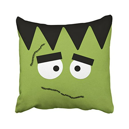 WinHome Decorative Pillowcases Funny Frankenstein Face For Halloween Throw Pillow Covers Cases Cushion Cover Case Sofa 18x18 Inches Two Side