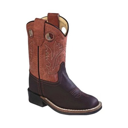 Infant Old West 6 Inch Broad Square Toe Cowboy Boot -