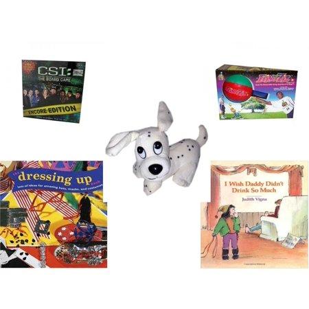 Children's Gift Bundle [5 Piece] -  CSI: Crime Scene Investigation Encore Edition The Board  - Flingzit  - Rhode Island Novelty Dalamation Dog  5