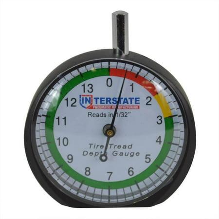Interstate Pneumatics TG32 Professional Dial Type Tire Tread Depth Gauge - (Best Tyre Tread Depth Gauge)