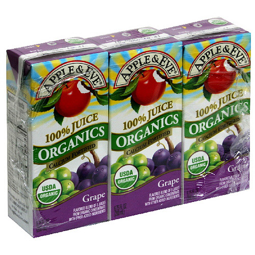Generic Apple & Eve Grape Organic Juice, 3ct (pack Of 9)