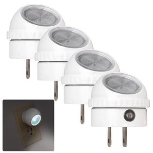 4 Pack LED Night Light Plug in with Auto Sensor Photocell, White by