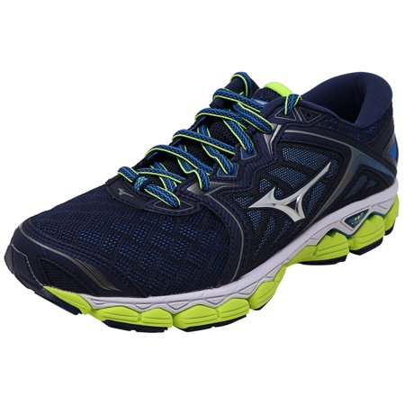 Mizuno Wave Sky Running Shoe for Men - 8M - Black / Grey / Yellow