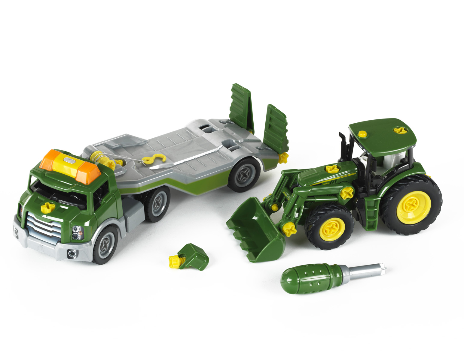 John Deere Tractor & Transporter by Theo klein