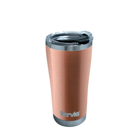 Rose Gold Powder Coat 20 oz Stainless Steel Tumbler with lid