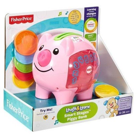 Fisher-Price Laugh & Learn Smart Stages Piggy Bank retail_packaging ()