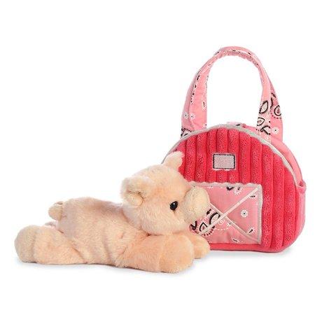 Red Barn Pig (Aurora - Fancy Pals - Pet Carrier - Pink Barn w/ Pig - 7