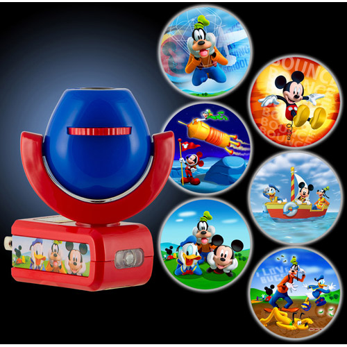 Night Light, LED Mickey Mouse 6 Image Projectable Plug In, Auto