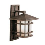 """Kichler 9130 Cross Creek Collection 1 Light 16"""" Outdoor Wall Light - Bronze"""