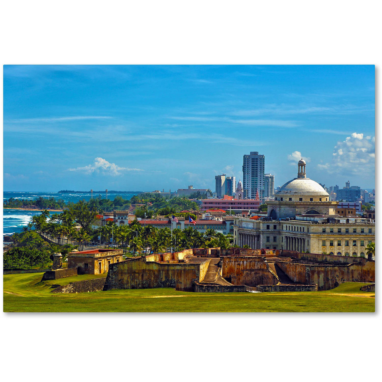 "Trademark Fine Art ""Old San Juan"" Canvas Art by CATeyes"