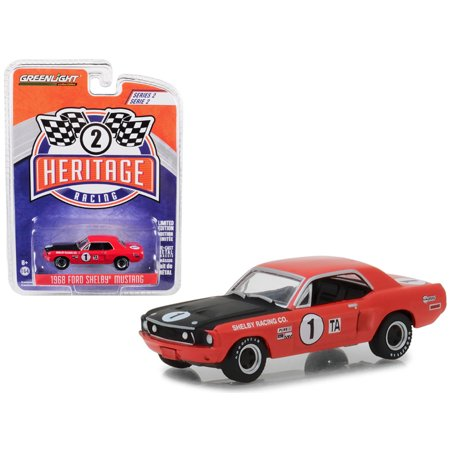 1968 Ford Mustang Shelby #1 TA Jerry Titus/ Ronnie Bucknum Red with Black Hood 1/64 Diecast Model Car by