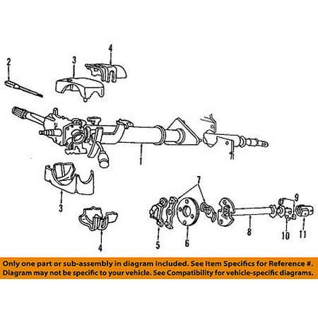 Dodge CHRYSLER OEM 91-93 Ramcharger Steering Column-Coupling Shaft 4115165