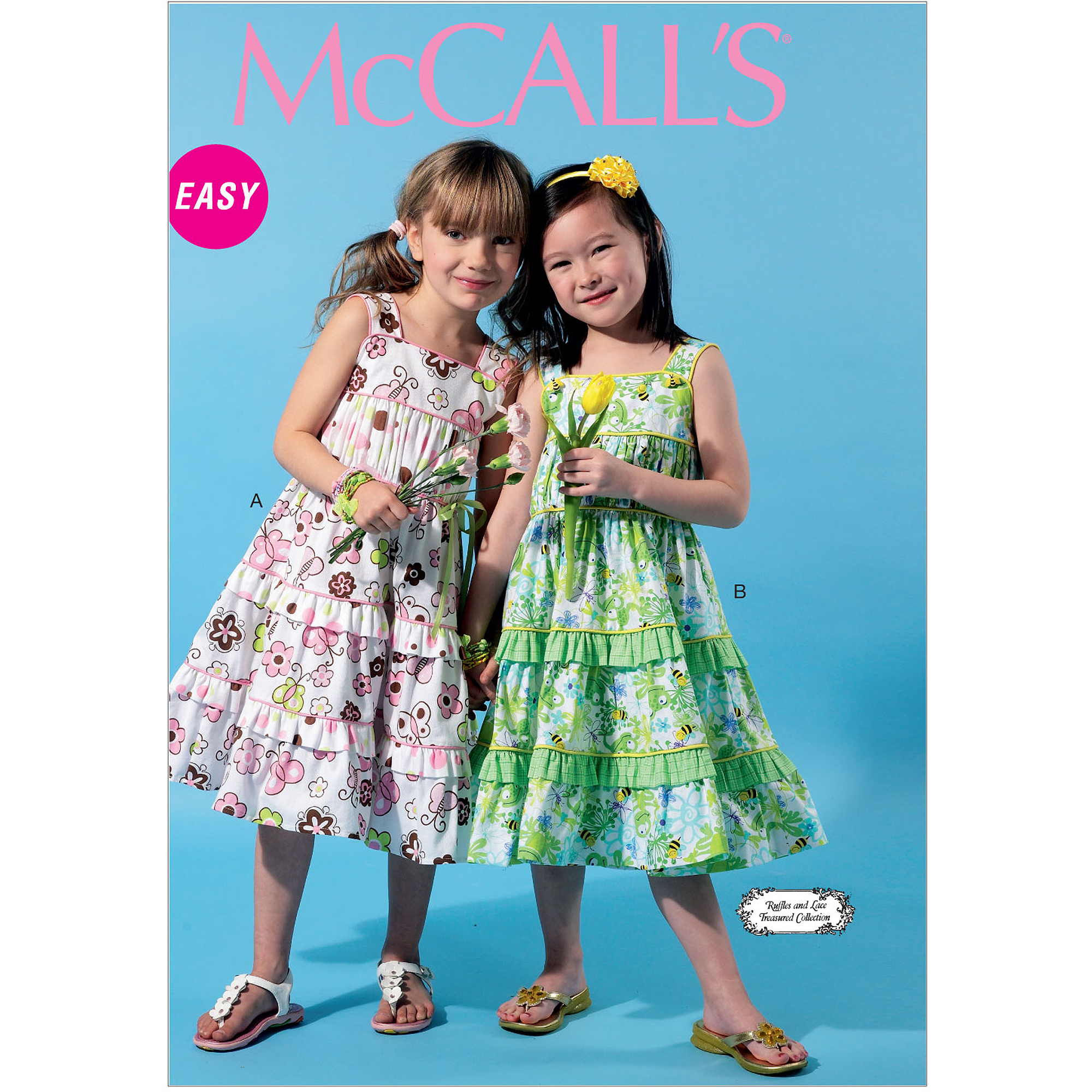 McCall's Pattern Children's and Girls' Dresses, CL (6, 7, 8)