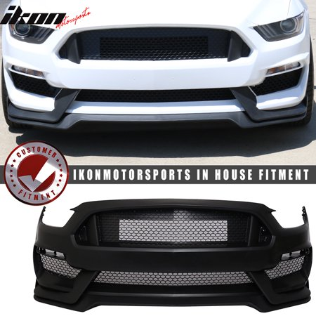 - Fits 15-17 Mustang GT350 Style Front Bumper Conversion Polypropylene OE Material