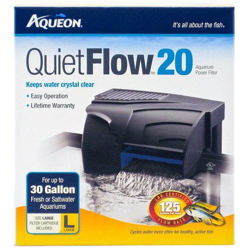 Aqueon QuietFlow Power Filter QuietFlow 30 - 200 GPH - (Aquariums up to 45 Gallons)