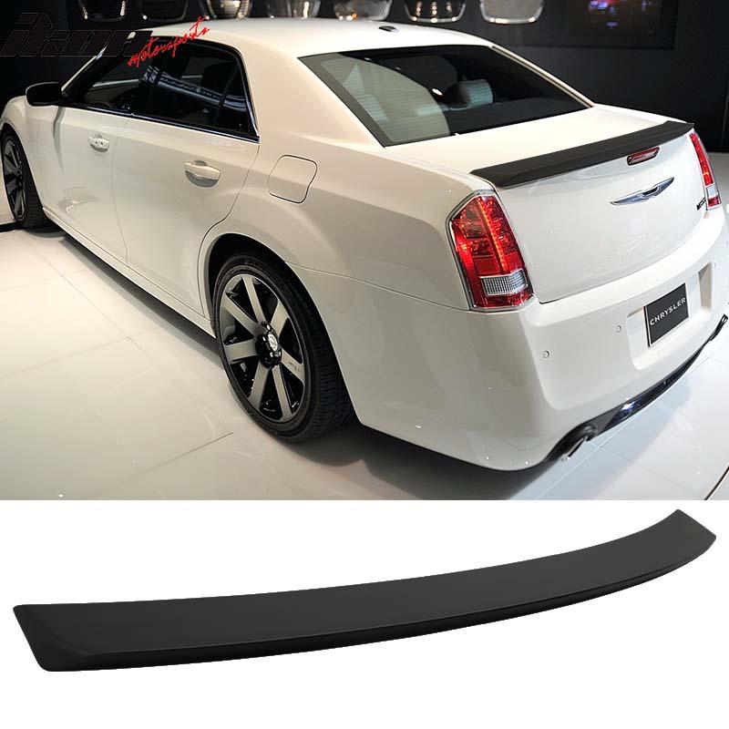 Matte Black! Fits 11-18 Chrysler 300 300C 300S SRT SRT8 Trunk Spoiler - ABS