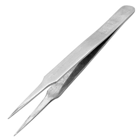 12CM Length Silver Tone Forceps Straight Pointy Tweezer - image 1 of 1