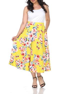 d3a68b0e723 Product Image Women s Plus Size Floral Midi Skirt