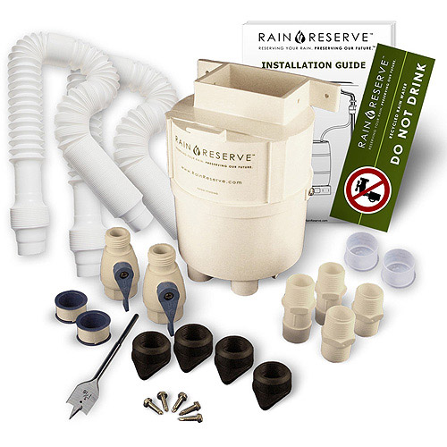 RainReserve Complete Double Capacity Diverter Kit, White